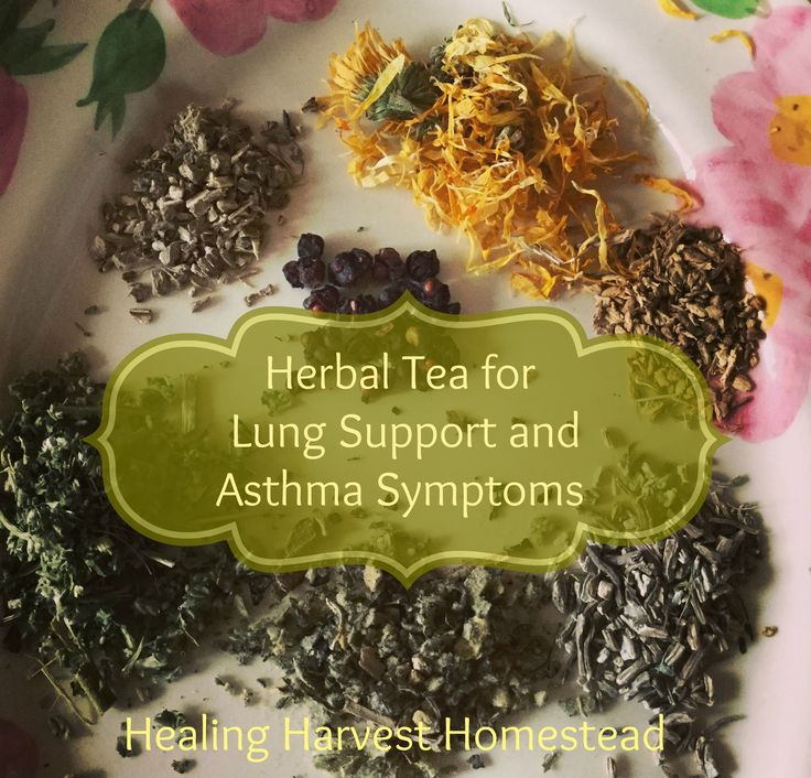 How to Make an Herbal Tea Blend for Asthma & Lung Support...Good for Children Too!  https://www.healingharvesthomestead.com/home/2016/12/27/how-to-make-an-herbal-tea-blend-for-asthma-lung-supportgood-for-children-too  Heidi Villegas