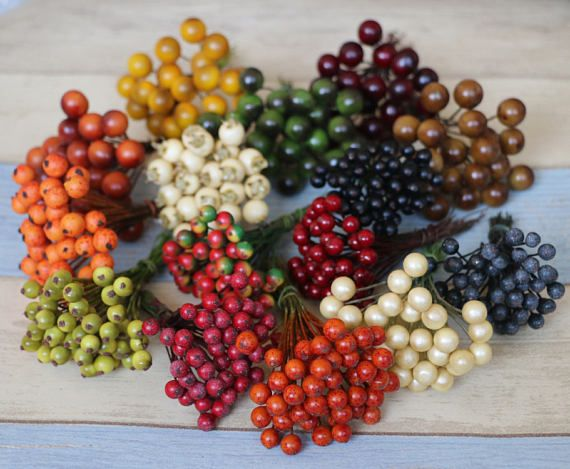 Frutta artificiale di bacche rosse Fake Black Berry per fiore