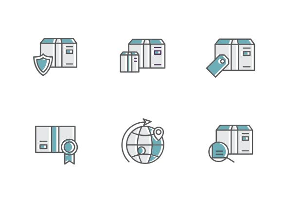 "This set contains 10 color filled line vector icons design into the ""Shipping, Delivery, & Fulfillment"" category. #LineIcons #VectorIcons #deliveryIcon"