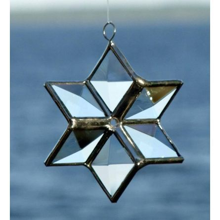 Gifts :: 3D Star Geometric Stained Glass Suncatcher Ornament by SNL Creations $25