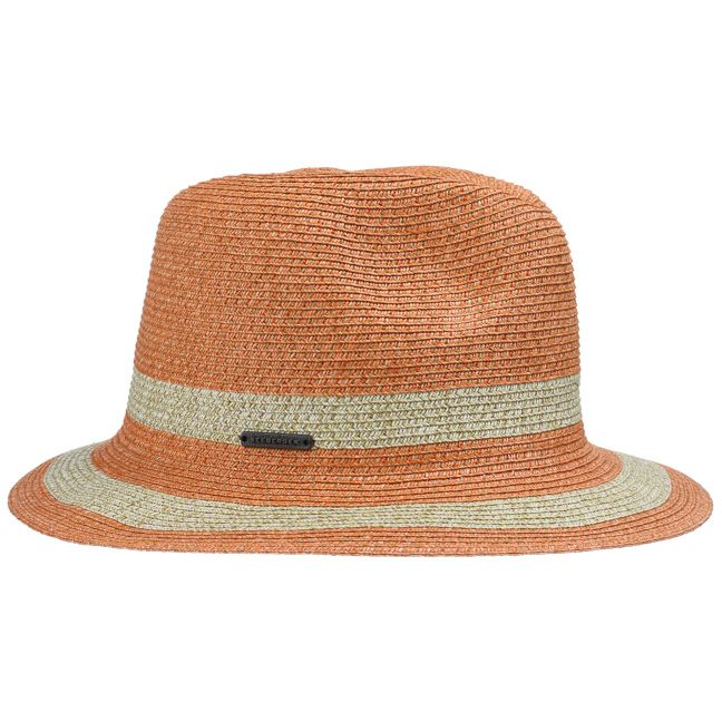 Adrette Strohhüte für Damen. Entzückende Hüte im Sommer. Braided Fedora Damenhut by Seeberger mit 24 h Versand, Rechnungskauf & 100 Tage Umtausch.