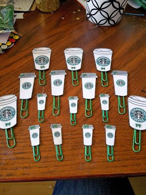 Starbucks Paper Clips for Pocket Letters