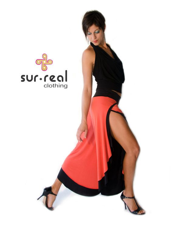 Wide Leg Open Side Reversible Pants 2 in 1 by SurRealClothing, $115.00