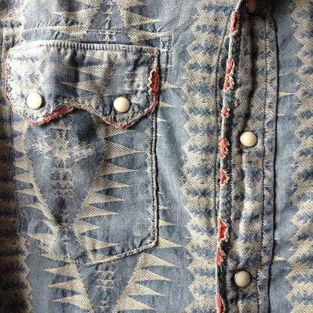 beautiful remade shirt Jacquard Chambray #kapital #indigo #chambray #jacquard