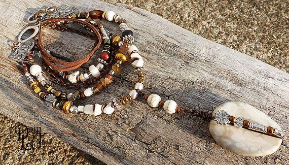 59 Hippie Necklace gypsy bohochic bohemian by DesignLA on Etsy