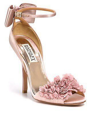 Blush pink bride shoes