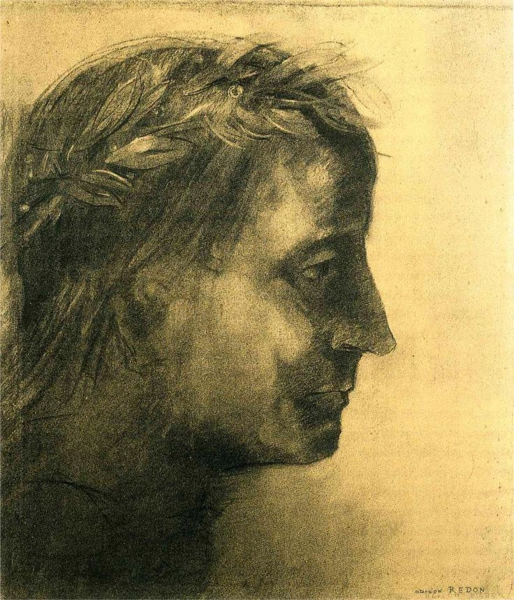 The laureate head Artist: Odilon Redon Completion Date: c.1875 ...