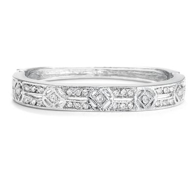 Margaux Bridal Bracelet: Antique-style CZ Bangle/Bracelet | www.glamadonnashop.com.au
