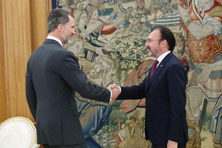 Foro Hispanico de Opiniones sobre la Realeza: Audiencia del Rey Felipe al Secretario de Relaciones Exteriores de México, Luis Videgaray Caso