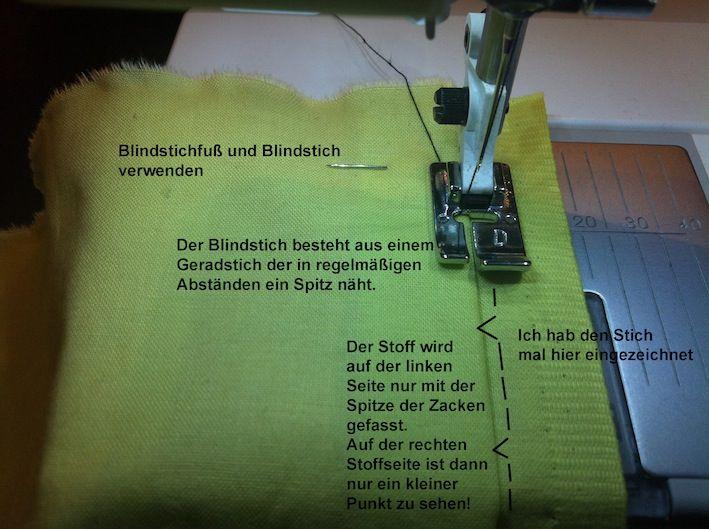 Blindsaum mit der Nähmaschine