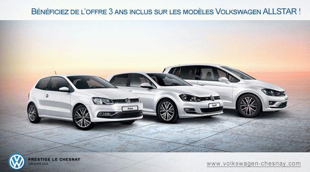 Bénéficiez de l'offre 3 ans inclus sur les modèles Volkswagen ALLSTAR !  #Volkswagen #voiture #allstar #Golf #Polo #Sharan #Touran