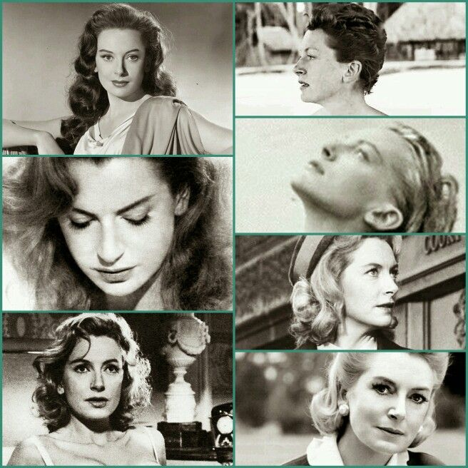 Deborah Kerr's hair style bouclé ~ mi long ~ wet ~ long loose