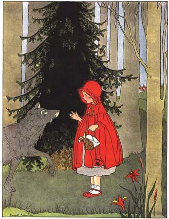 Bates, Katharine Lee, editor. Once Upon a Time: A Book of Old-Time Fairy Tales. Margaret Evans Price, illustrator. Chicago: Rand McNally & Company, 1921.