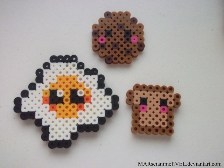 Cute Toast, Egg, and Cookie by MARscianimefiVEL.deviantart.com on @DeviantArt