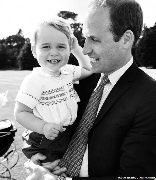 Princes George and Dad, William