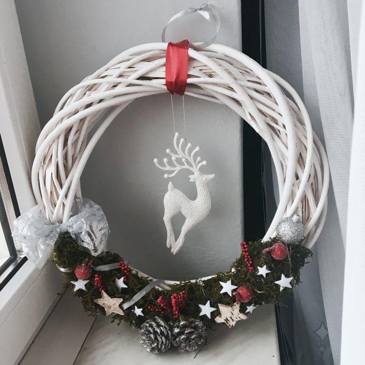 Christmass decoration, decor, wianek świąteczny, stroik, Boże Narodzenia, Hand Made, Diy