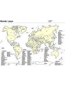 Librairie-Interactive - Planisphère - Cartes du Monde