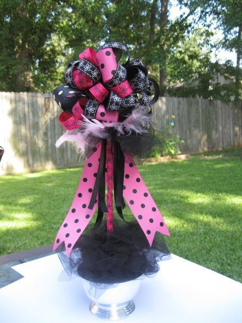 Incredible Mickey Ribbon Topiary Centerpieces Disney Fairytale Princess Download Free Architecture Designs Scobabritishbridgeorg