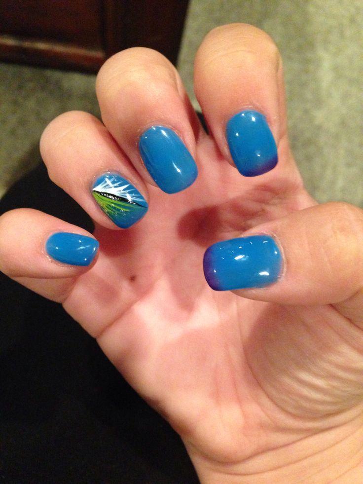 New Nails! Gel II Reaction: Shark Tank (blue In Warm/dark
