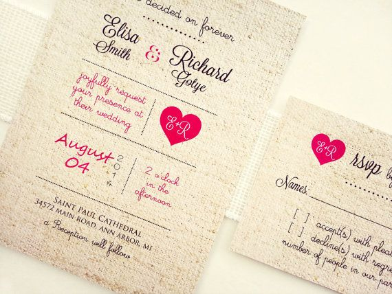 Wedding Invitations Elegant Rustic Romantic Lace