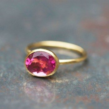 pink tourmaline ring by Claire de Divonne for Jewelry Designers Workshop