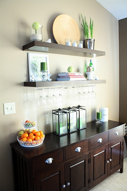 Get Shelves To Put Above The Dresser Buffet In Dining Room