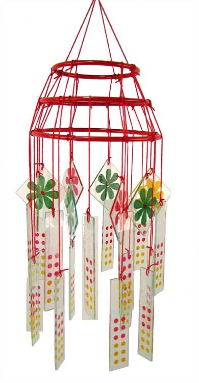 Pattern for a Vintage 1950s Glass Windchime