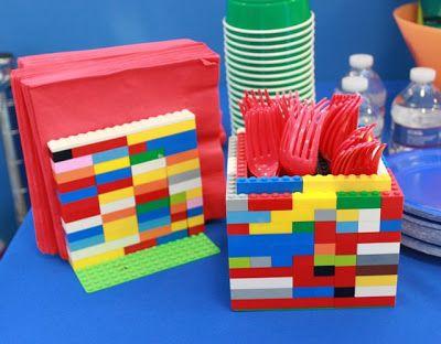 Lego napkin holder and utensil holder