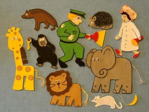 Good Night Gorilla: Circle Games Songs Felt, Board Stories, Goodnight Gorilla, Book Good Night, Gorilla Felt, Felt Board, Book Felt, Flannel Board