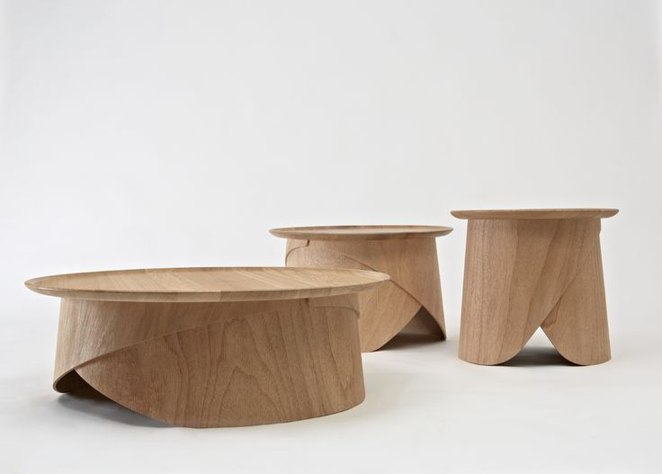 Attractive Simple Wooden Coffee Table With Legs Made Of Bent Plywood These Are Simple  But Unique Tables Designed By Lucie Koldova For LUGI. Wrap Tables Have Legs  That Pictures