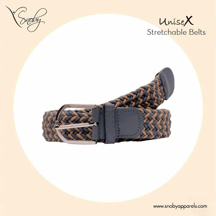 Buy unisex stretchable belts only on #SnobyApparels deal.   http://www.snobyapparels.com/accessories/belts/men-belt.html
