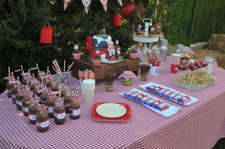 Mesa de dulces fiesta vaquera pinterest for Decoracion de frutas para fiestas infantiles