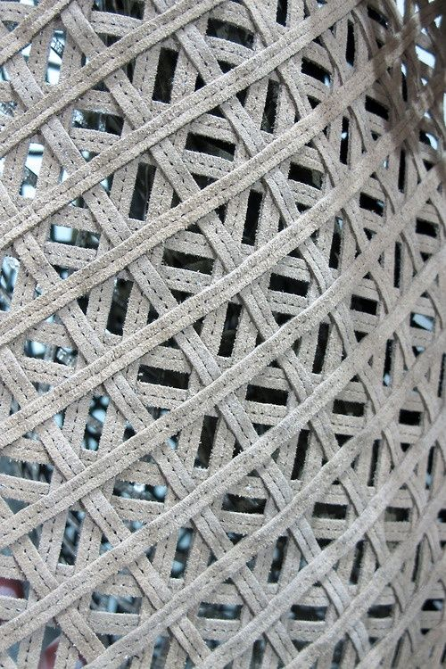 The layered approach to weaving creates a high degree of depth and texture as we can actively see the different levels. The woven textile above is a inspirational geometric structure that I would love to investigate further through experimentation.