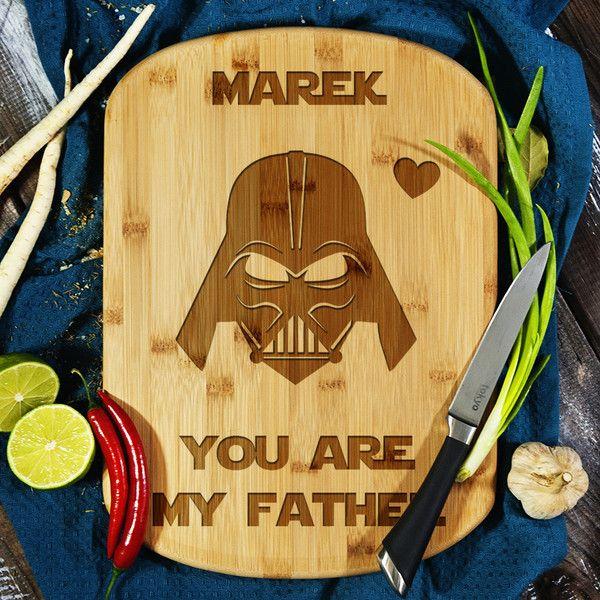 Vader Dad - deska do krojenia z grawerem - MyGiftDna - Deski do krojenia