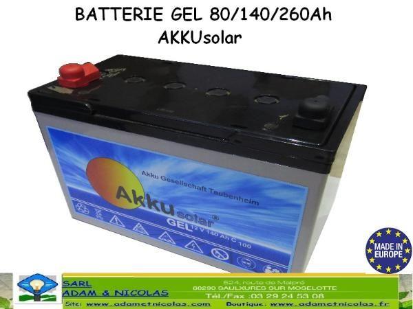 Nouvelle Gamme de batterie Solaire Gel 80/140/260Ah Vente en ligne panneaux solaires Vosges - kits photovoltaïques - Installer Panneau Materiel Solaire