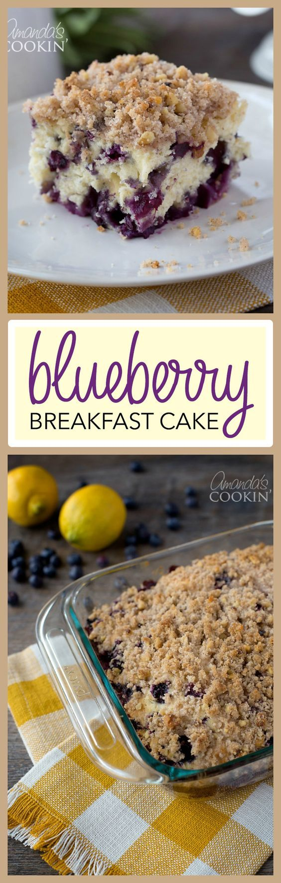 This blueberry breakfast cake is jam-packed with flavor! Delicious blueberries make this breakfast one to make again and again.