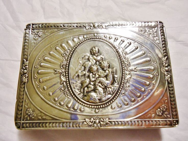 Fine Mint Antique 800 Silver French Ernest Eschweige Snuff Box - Antique French Silver Putti E. Eschweige Cigarette Case - French Vesta Case by GranvilleGallery on Etsy