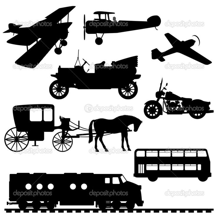 17 Best Images About Transportation Silhouettes Vectors