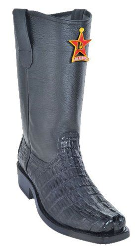 Caiman Tail Los Altos Black Leather 21581 Men's Biker Boots Harness Fashion Motorcycle 6