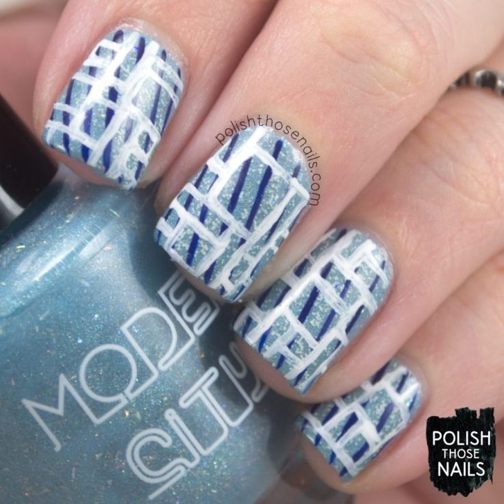 Clear Geometrics // Polish Those Nails // The Digit-al Dozen - Inspired By Each Other // Inspired by More Nail Polish // model city polish - philly loves lacquer - nail art - indie polish