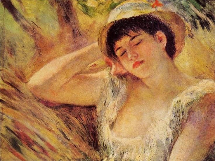 The Sleeper, 1880  Pierre-Auguste Renoir