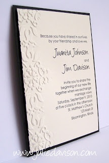 Julie's Stamping Spot -- Stampin' Up! Project Ideas Posted Daily: Iron Craft 17: The Wedding Challenge