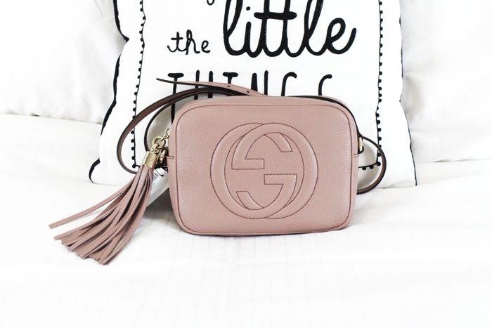 7118bd6c329 Gucci Soho Disco bag in Rose Beige Leather