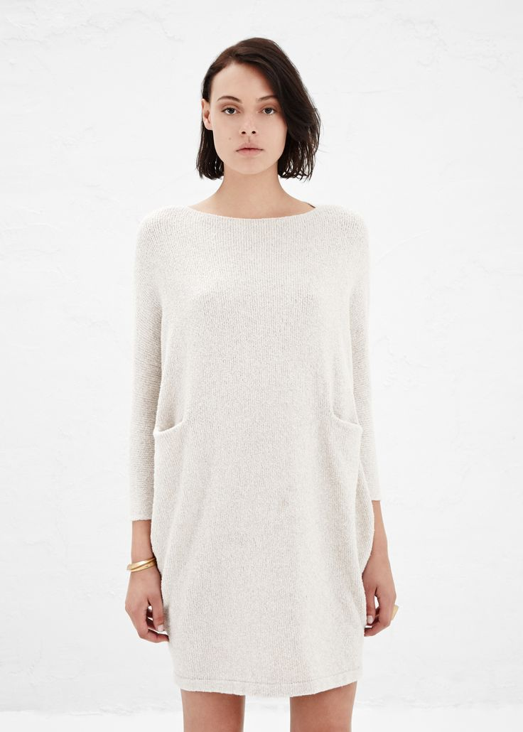 Chalk trapezoid dress | lauren manoogian