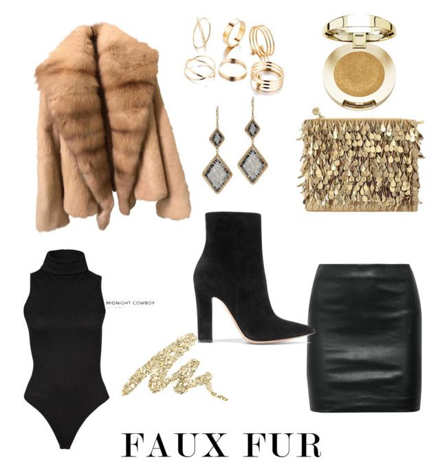 """Faux Fur"" by paola-kilian ❤ liked on Polyvore featuring The Row, Gianvito Rossi, Forest of Chintz, Dana Kellin, Urban Decay and Milani"