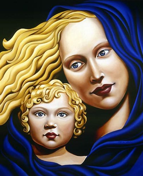 Mother And Child-Catherine Abel (Australian)