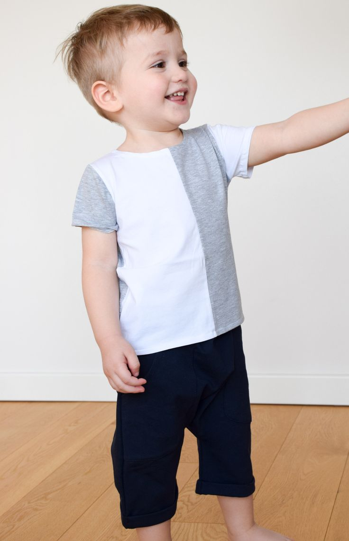 half white half grey tshirt