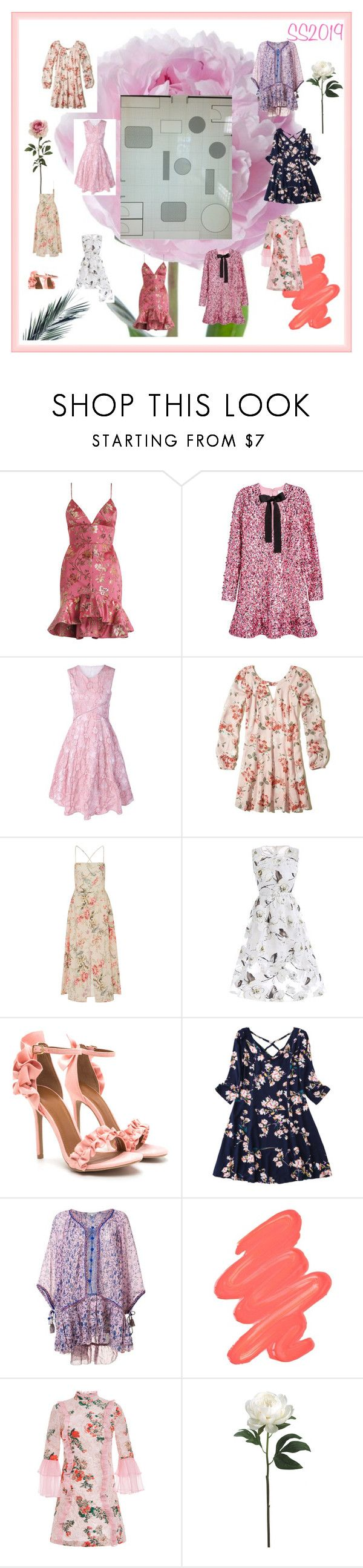 """Peony"" by abbyjane-1 on Polyvore featuring Zimmermann, H&M, Hollister Co., Poupette St Barth, Obsessive Compulsive Cosmetics and VIVETTA"