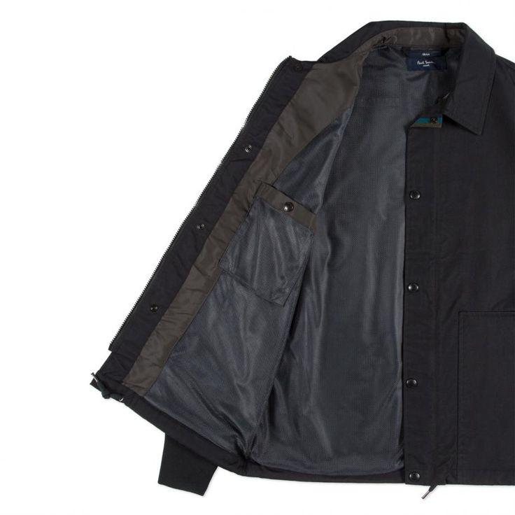 Paul Smith Men's Black Shower-Proof Coach Jacket