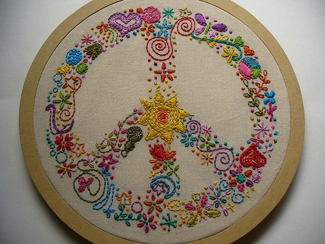 Peace Sign Embroidery (Flickr Inspiration)